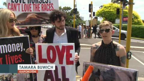 Video for Animal rights advocates want horse racing banned