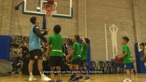Video for NZ Breakers take time-out for whānau this Xmas