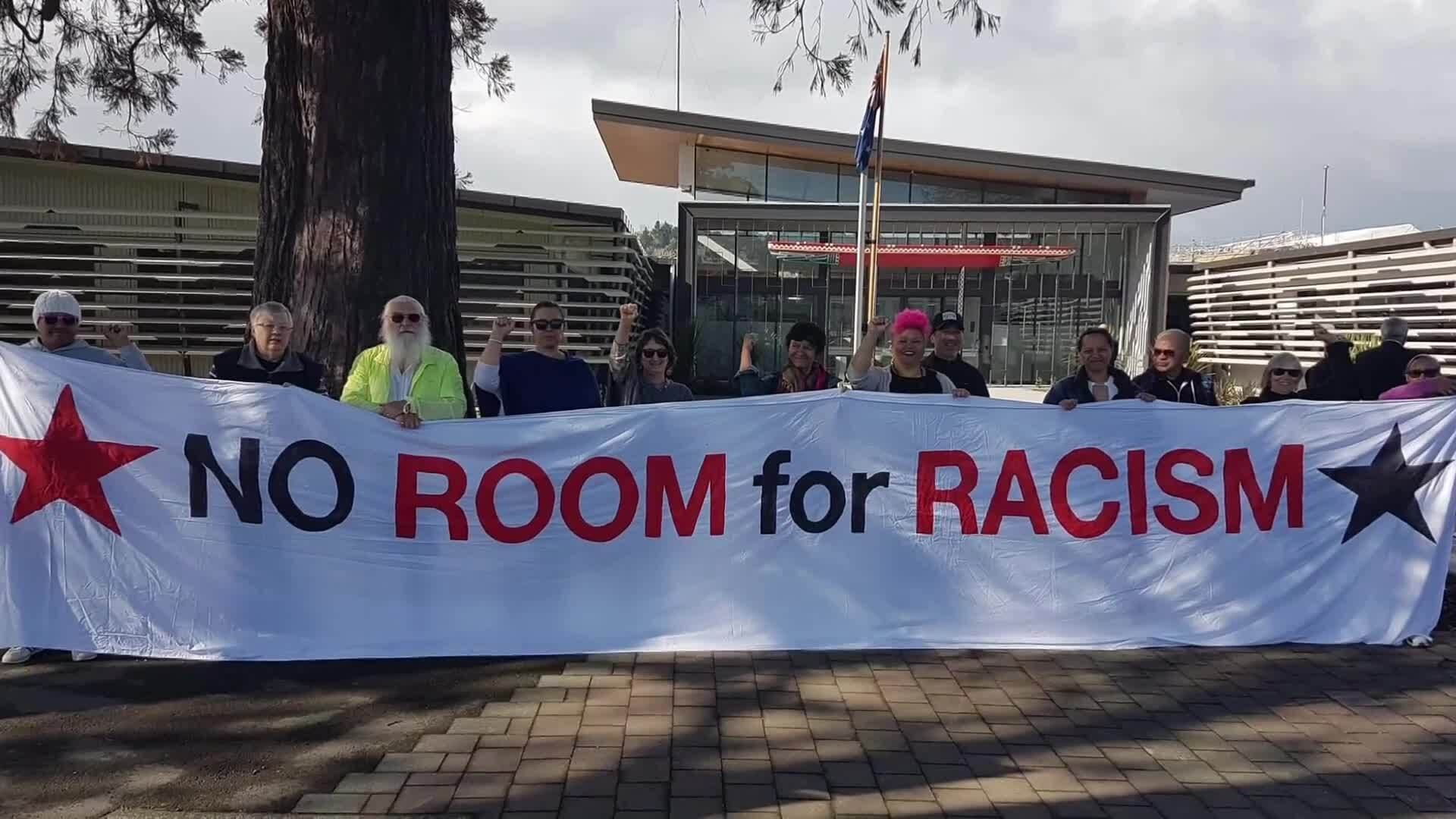 Video for Gisborne locals rally against racism