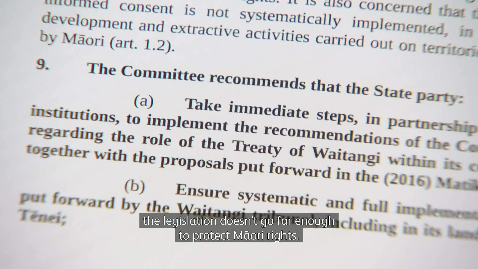 Video for Human Rights Commission backs UN report for Treaty rights