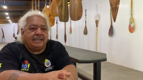 Video for Rangatahi cultural-exchange carve Cook Island waka