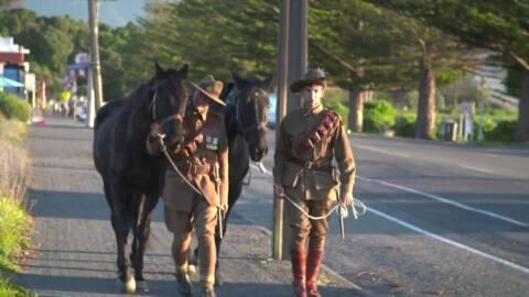 Video for Kaikōura honour mounted rifles during ANZAC service