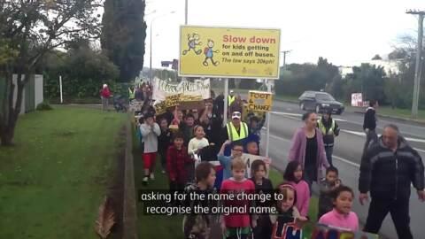 Video for Kua tūtohua kia rua ngā ingoa mō te rohe