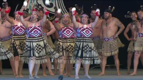 Video for PM talks to politicsraised on Te Matatini stage