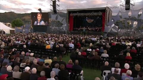 Video for Dame Kiri Te Kanawa's name set in stone