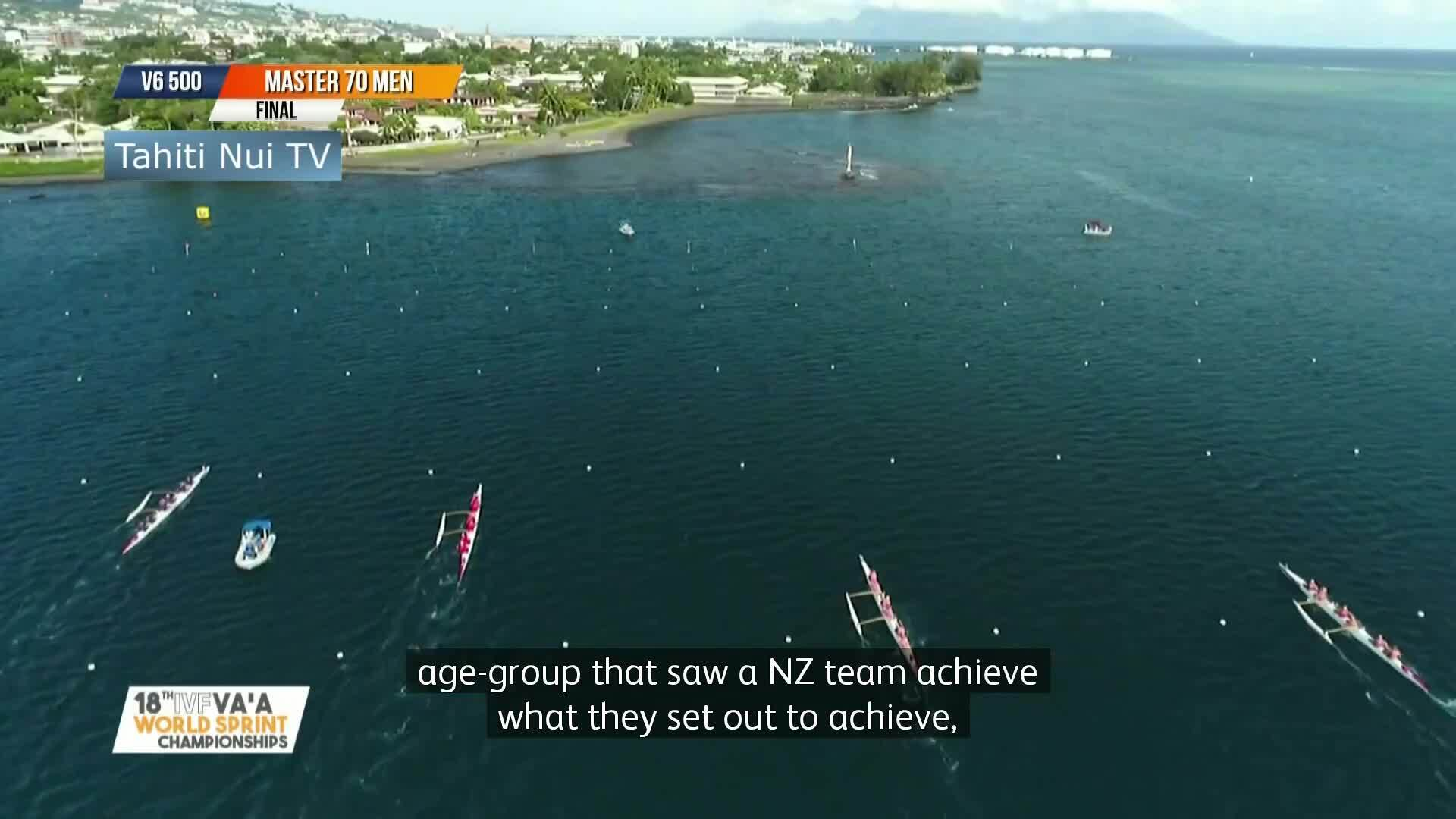 Video for NZ V6 teams dominate in 1000m races.