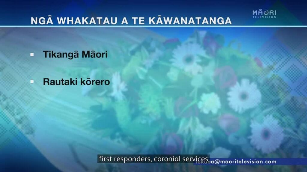 Video for Tikanga Māori to be regulated throughout funeral industry