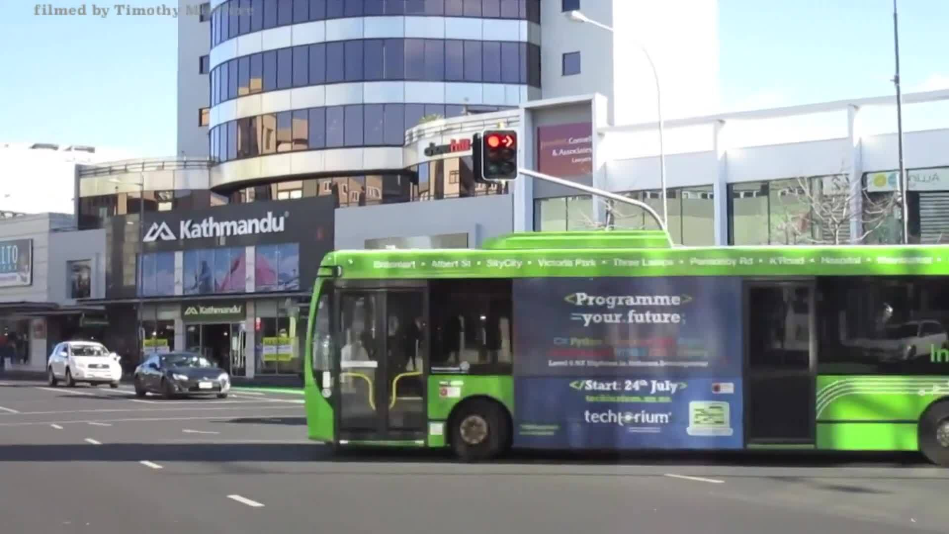 Video for Rolling bus strikes in Auckland