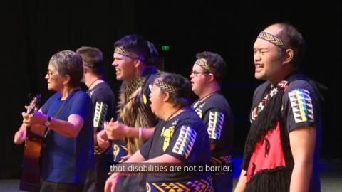 Video for Ka ratarata te marea ki te ahurea kapa haka tuatahi mā te hunga hauā, tāngata whaiora