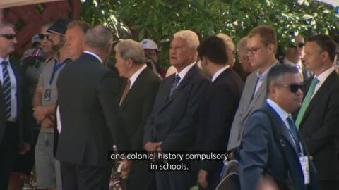 Video for MPs at Waitangi talk colonial history in schools