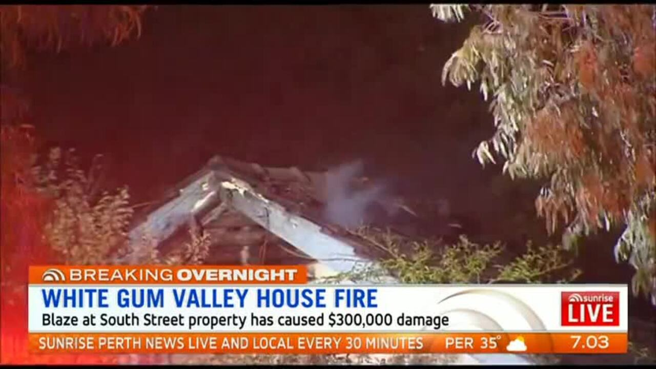 The blaze at the South Street property has caused $300,000 damage.