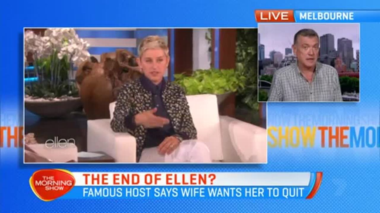 Ellen DeGeneres says she is considering ending her popular talk show and that her wife wants her to leave