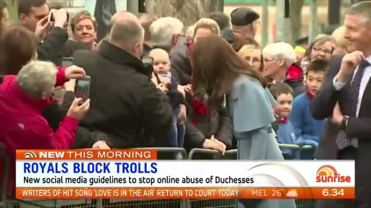 New social media guidelines are in place to stop online abuse of the Duchesses.