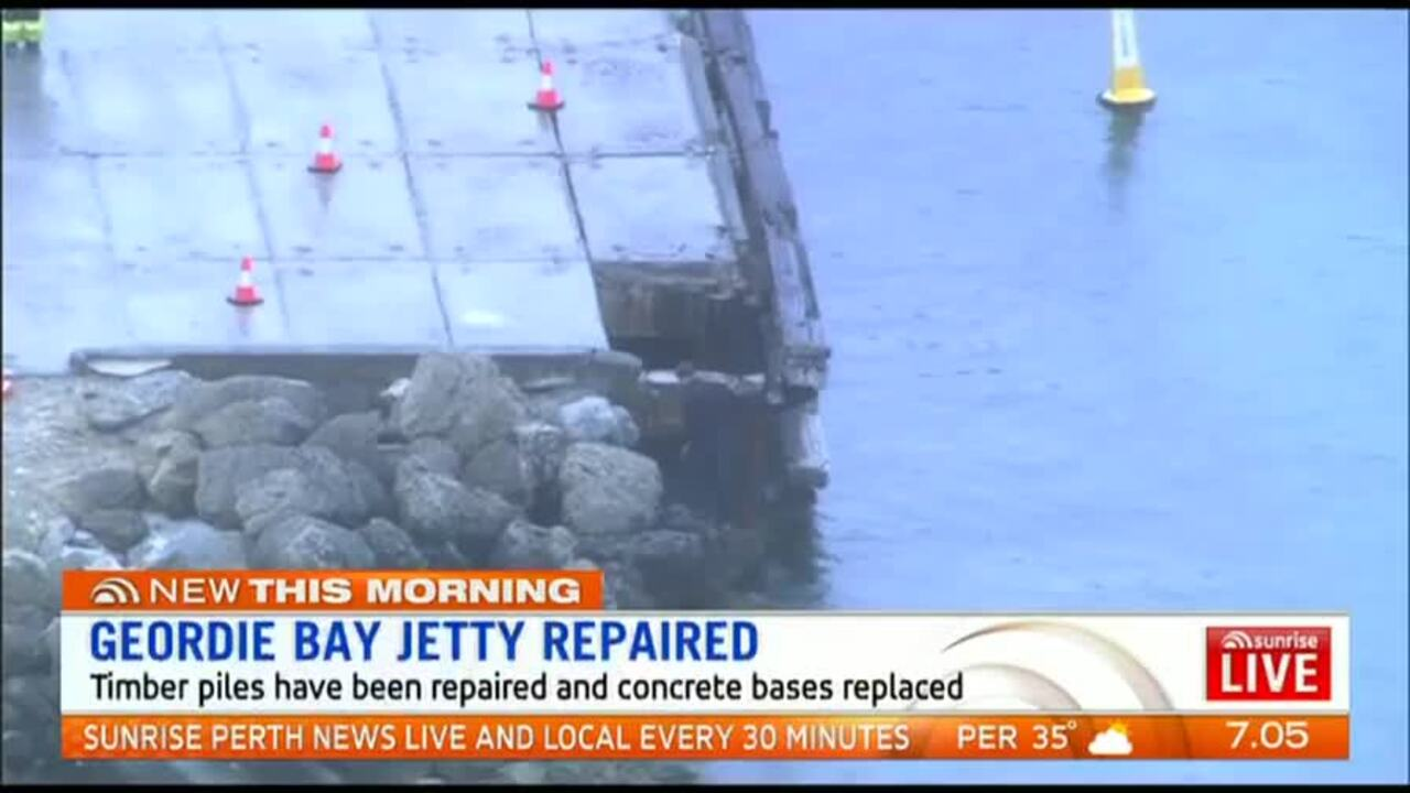 The jetty has been repaired at the cost of $52,000.