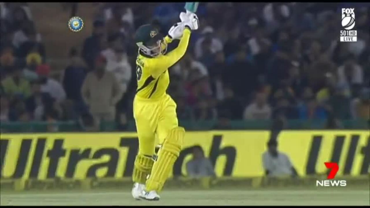 Turner hit 84 on 43 balls to help the Aussies level the playing field against India.