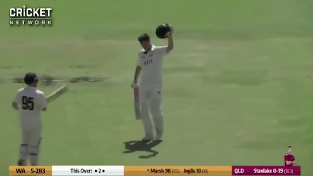 WATCH: In a must-win clash at the WACA, WA captain Mitch Marsh has brought up his 11th first class century.