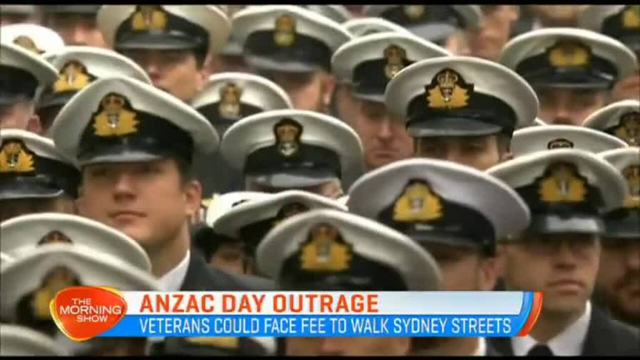 Veterans could face a fee to walk the Sydney streets this year.