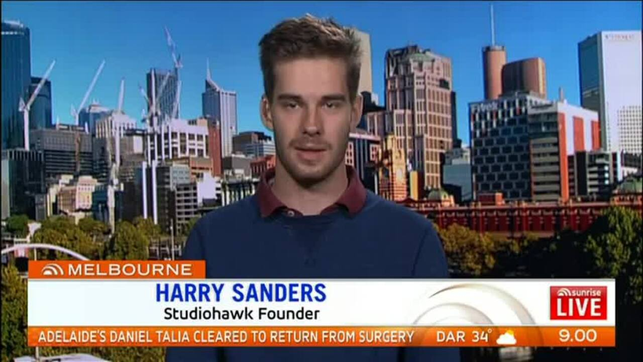 21 year-old Harry Sanders went from being homeless to being a millionaire when he created his own company Studio Hawk.