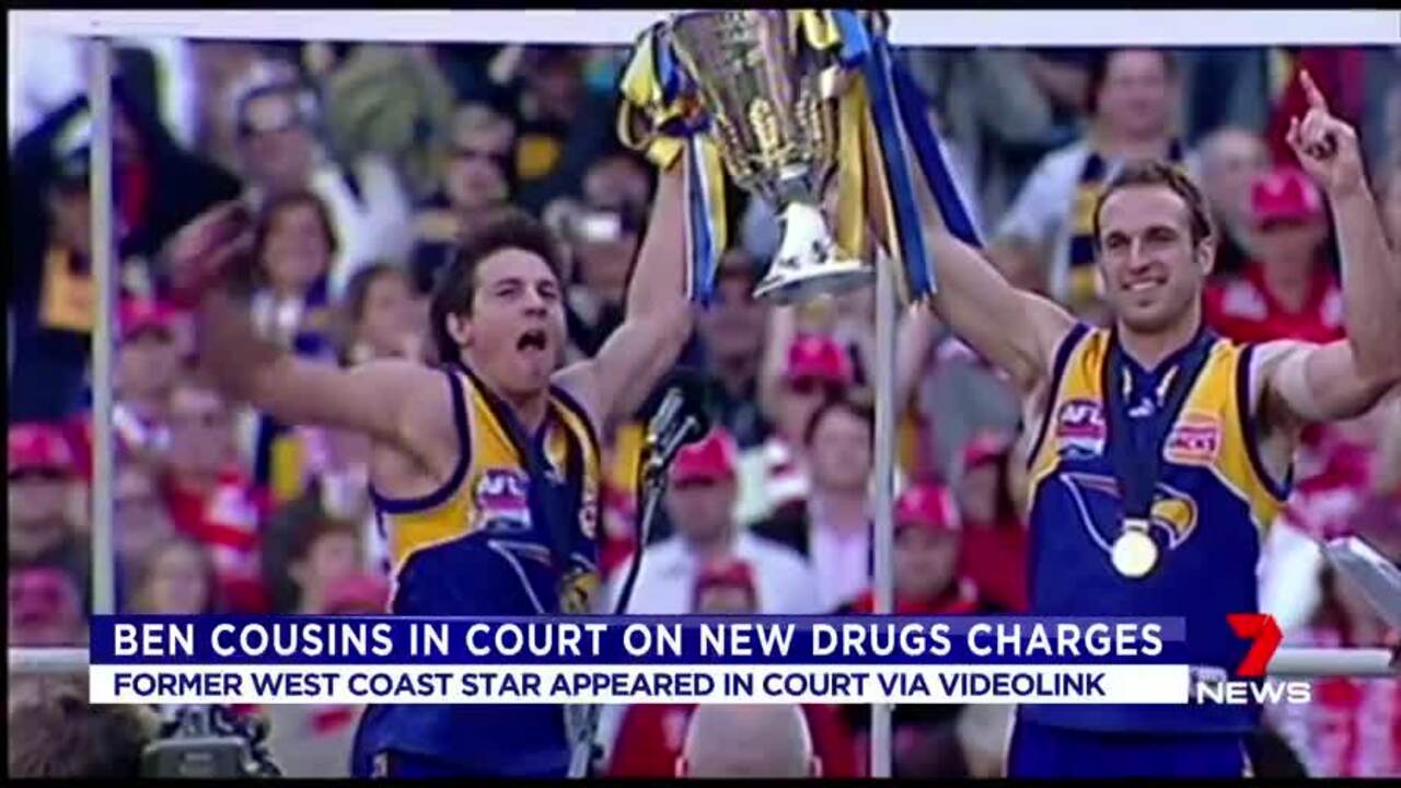 The former West Coast Eagle has been hit with more drugs charges and will be back in court on Wednesday.