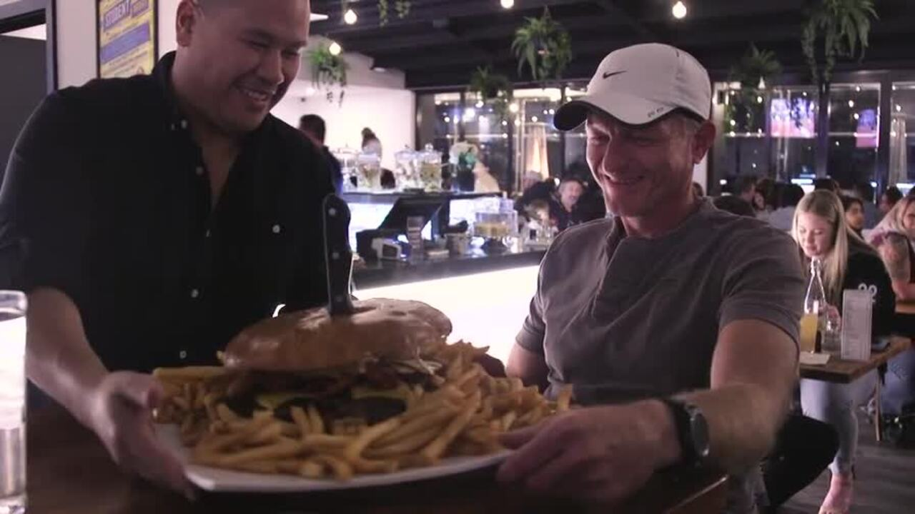 Tom Kaczor is known locally as one of Perth's best eating challengers, so why not test his eating skills with a three-kilogram burger challenge?