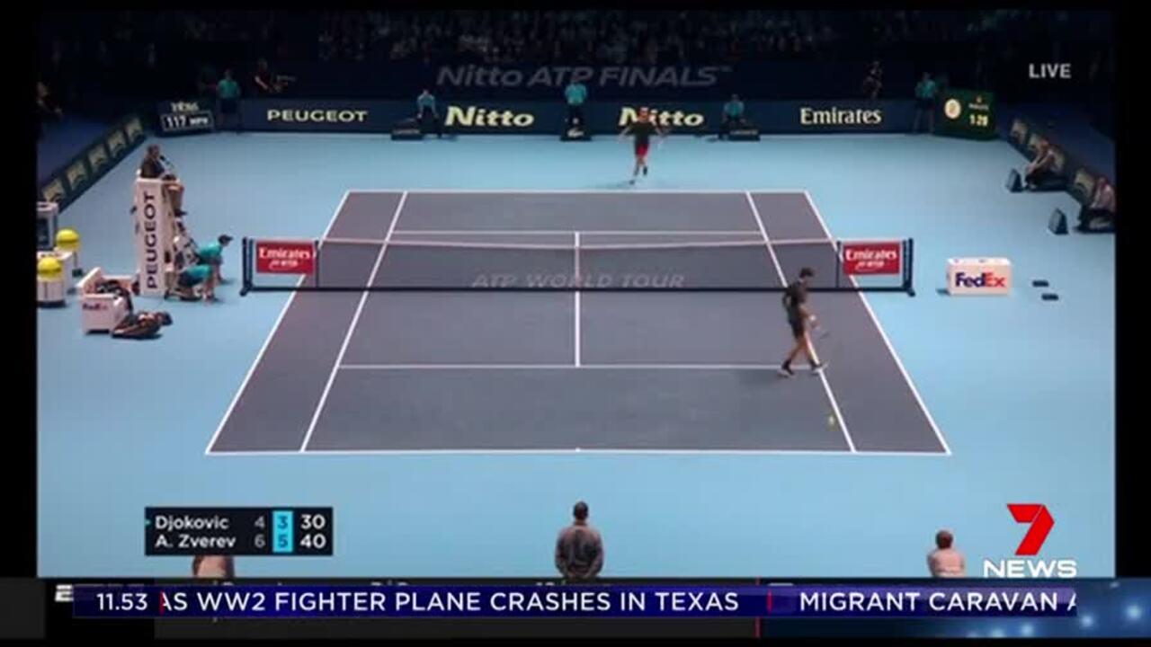 Alexander Zverev has won the ATP Tour Finals beating world number 1 Novak Djokovic in two sets