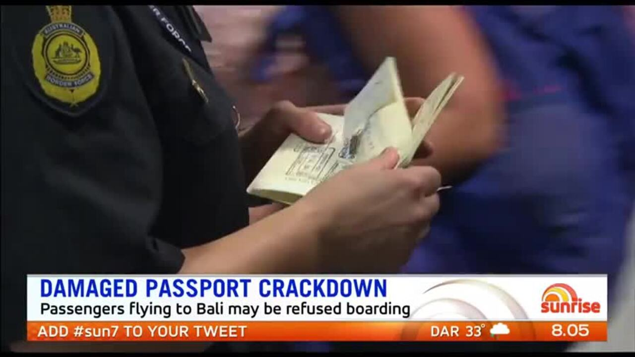 Passengers flying to Bali may be refused boarding if their passports are crinkled
