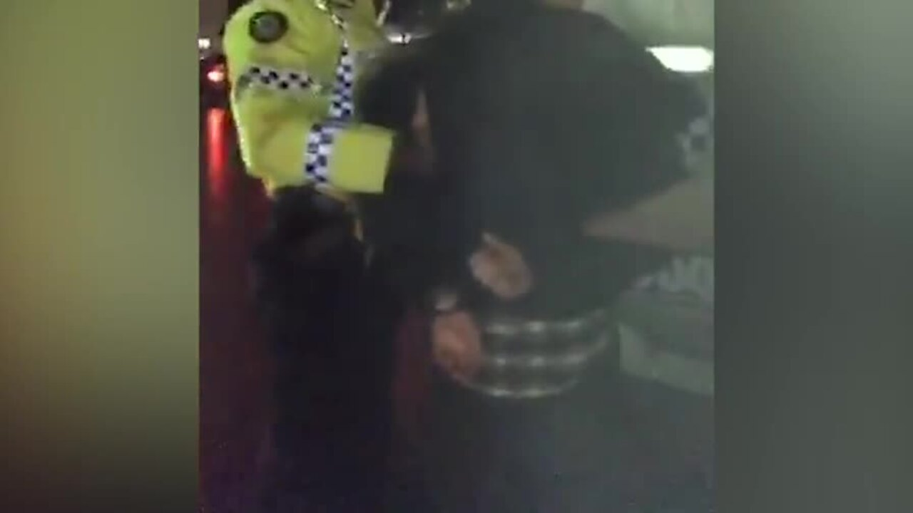 WATCH: Vegan activist 'leader' James Warden was arrested by police last night for acting disorderly.