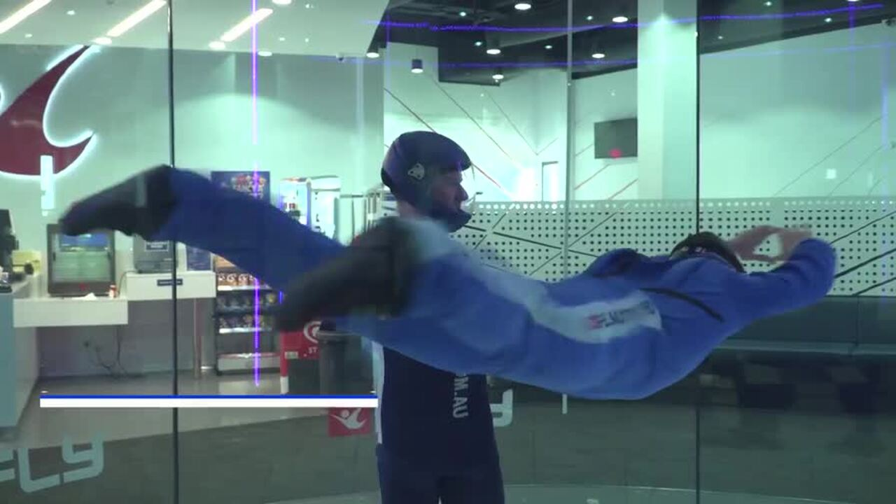 iFly has introduced virtual reality headsets you can wear while you fly suspended in their wind tunnels.