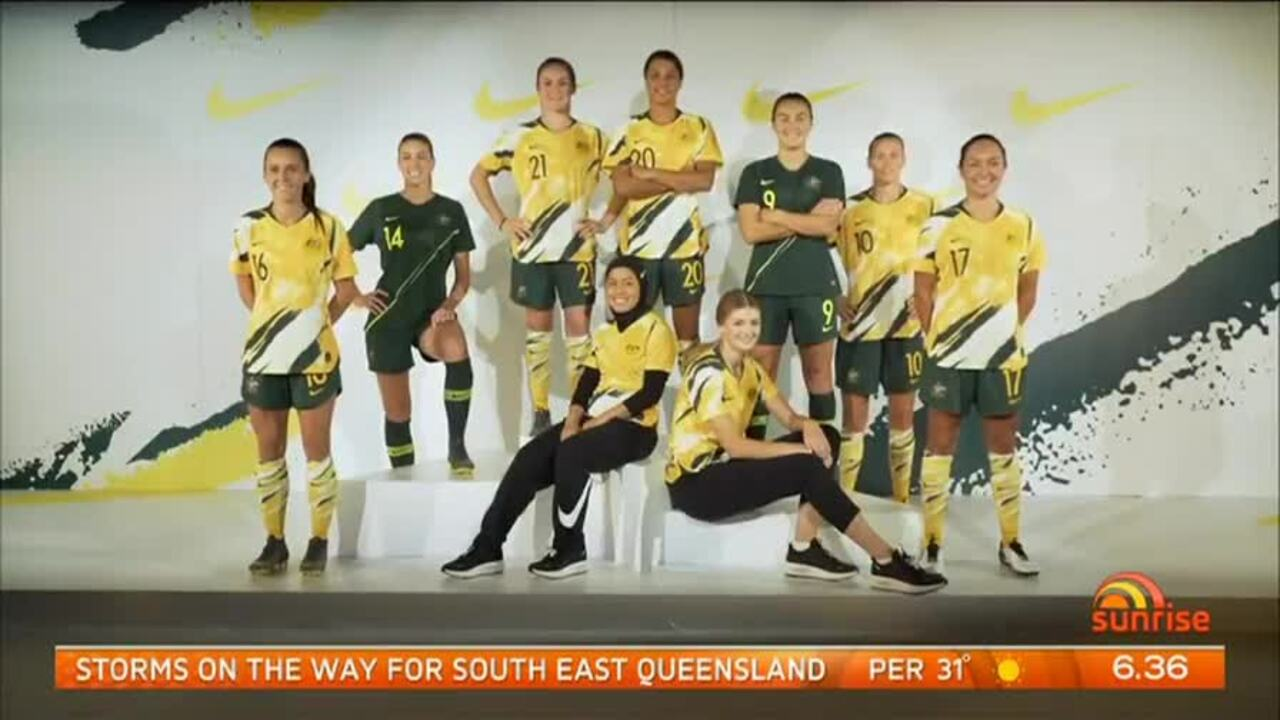 Captain Sam Kerr says the kit represents their bold and vibrant playing style.