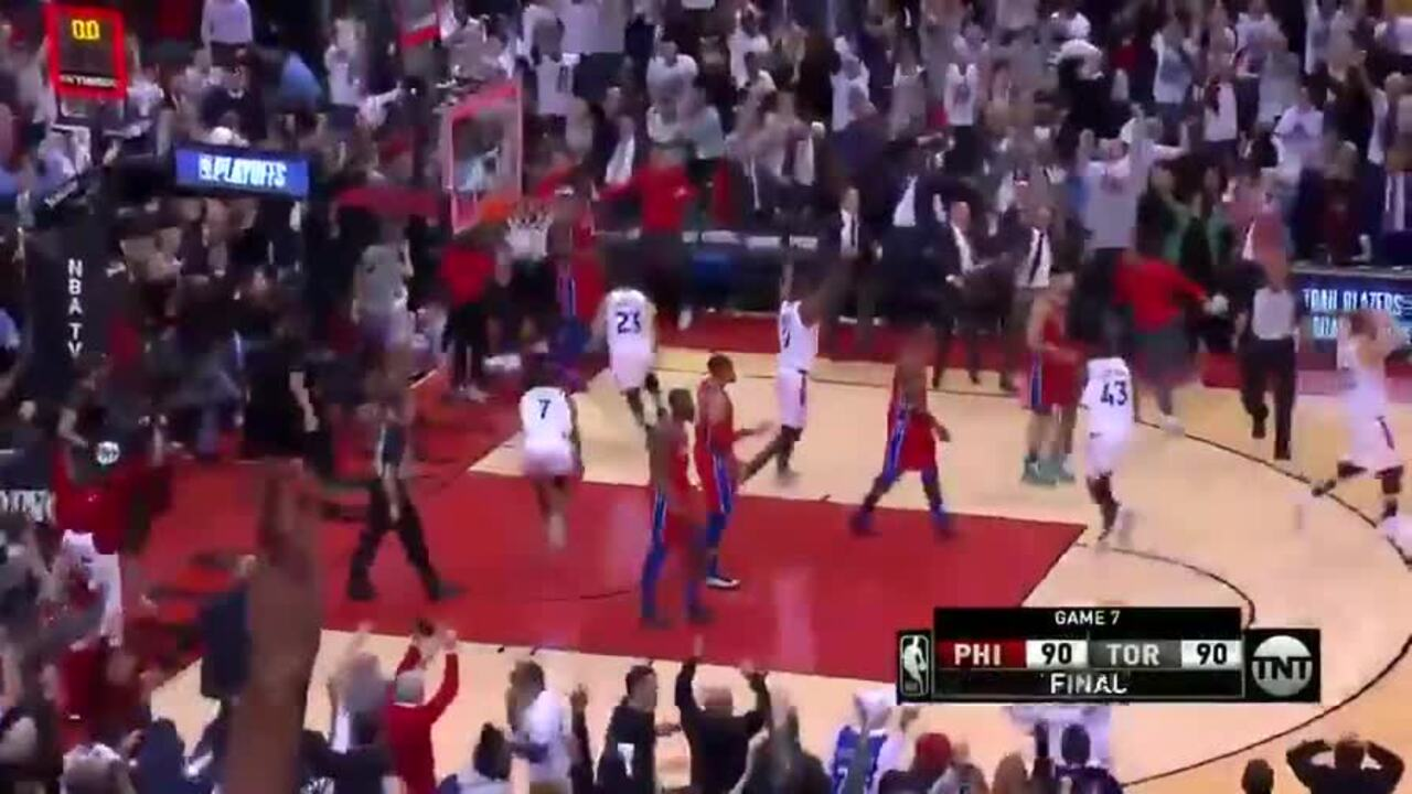 Kawhi Leonard made a shot in the last second of the game to send Toronto into the Eastern Conference finals.