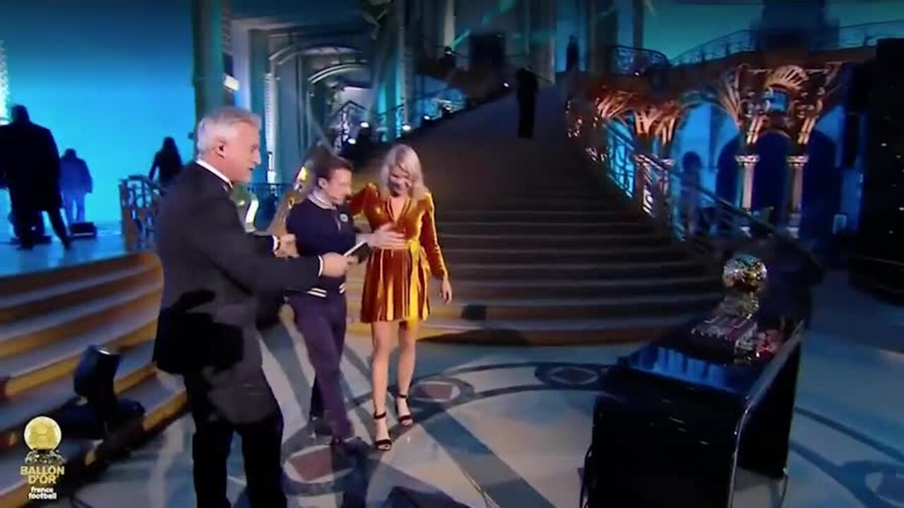 DJ Martin Solveig asked the inaugural women's Ballon d'Or winner Ada Hegerberg to twerk on stage in celebration and she didn't look impressed.