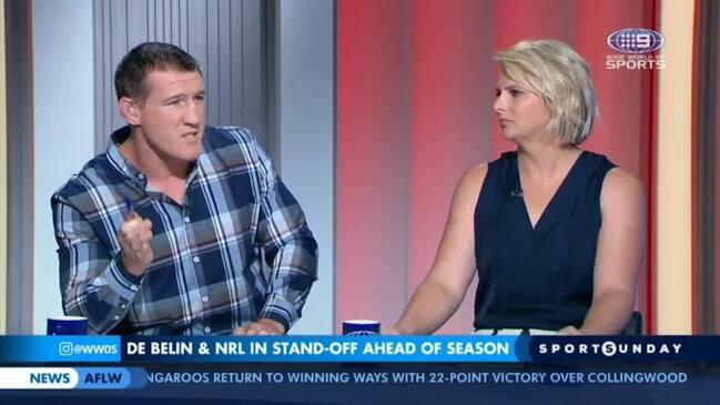 Channel 9 stars clash in fiery debate (Sports Sunday)