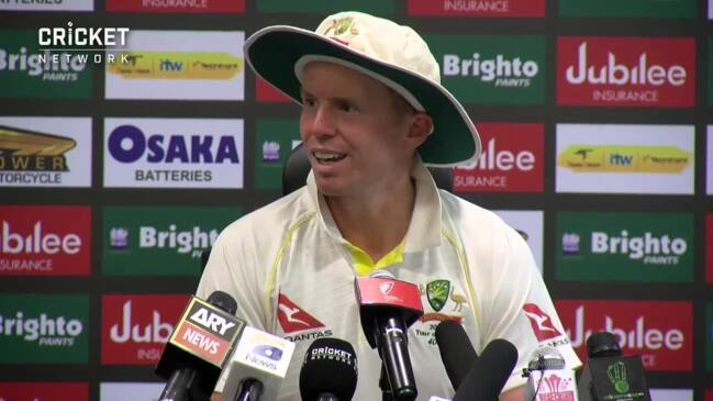 Peter Siddle speaks after day one of first Test against Pakistan