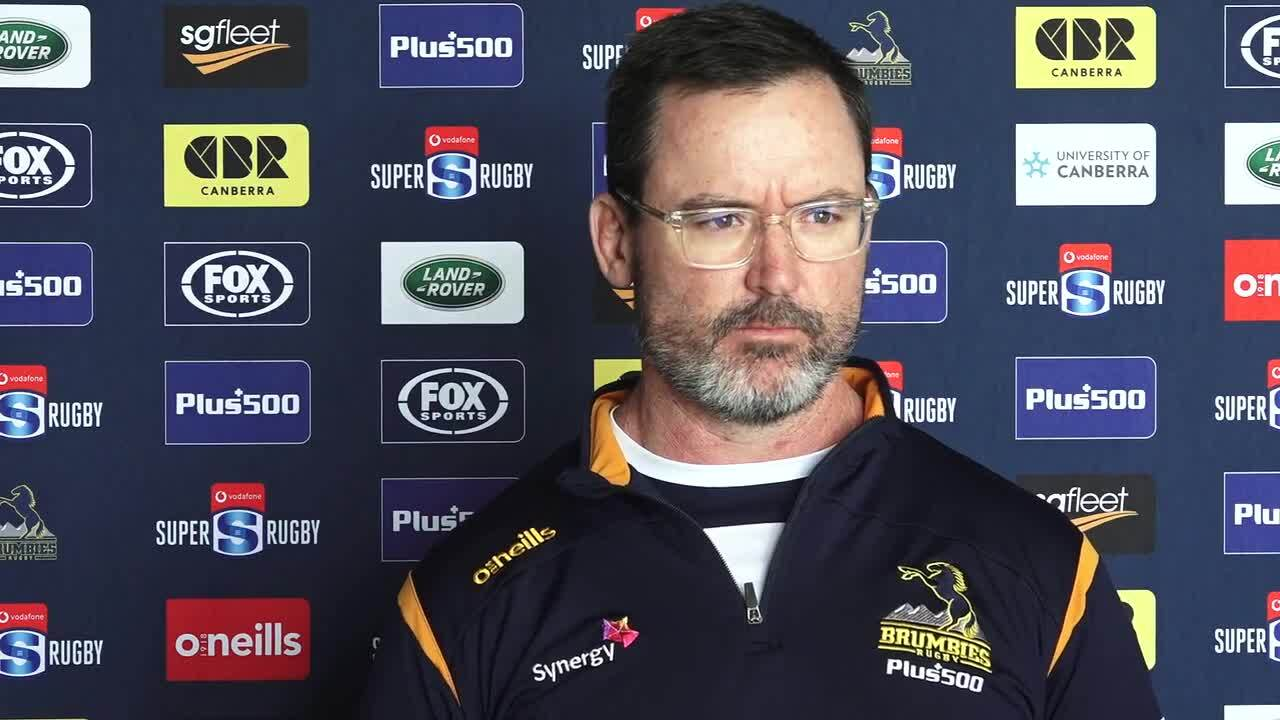 Brumbies coach Dan McKellar interview - Reds Round Five