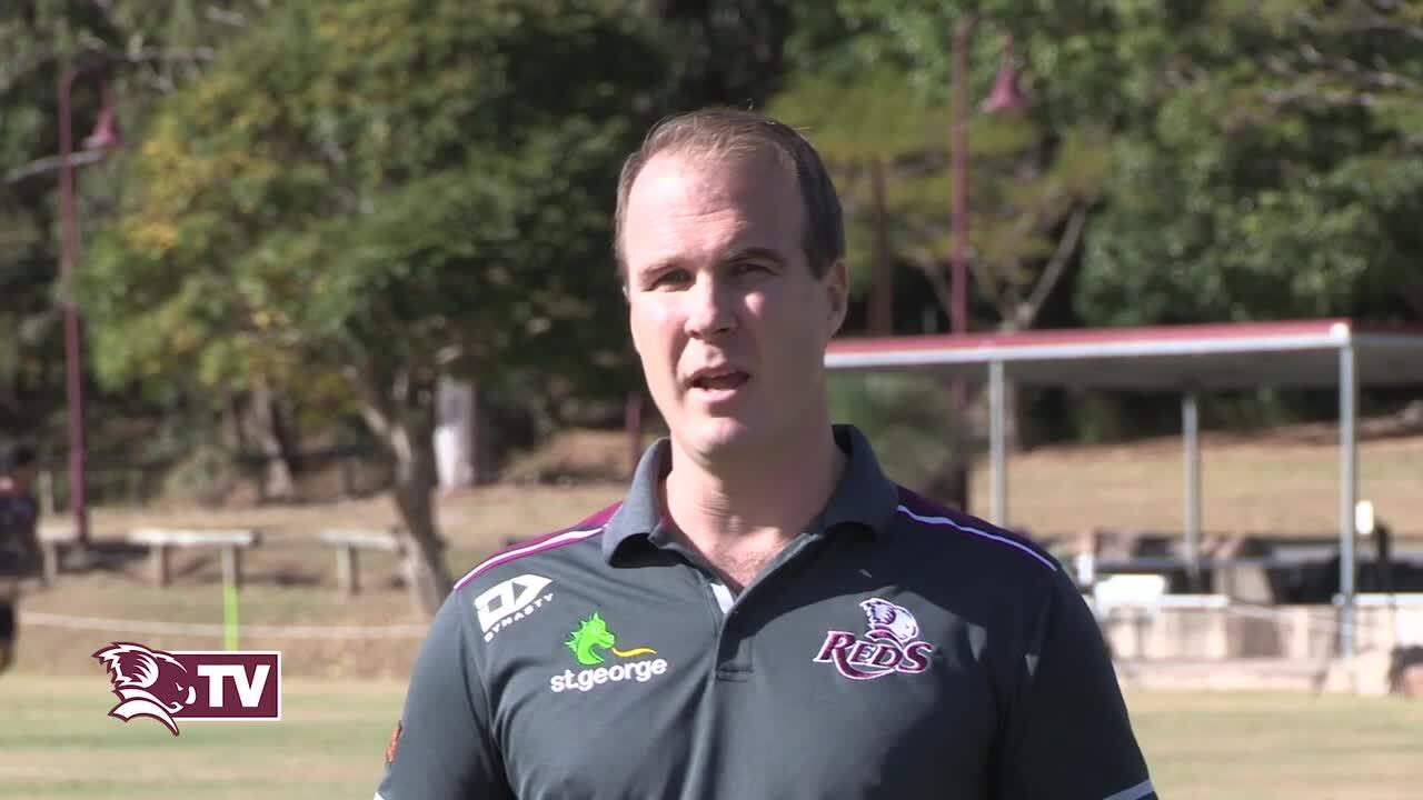 Queensland Rugby Union CEO David Hanham and Rugby Australia Director of Rugby Scott Johnson