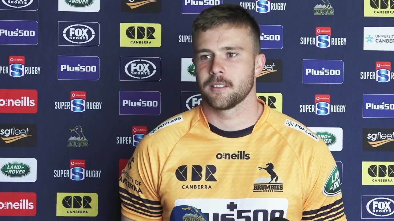 Brumbies backs Tom Banks Mack Hansen interview