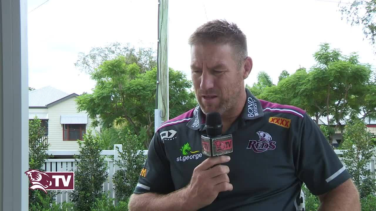 Reds coach Brad Thorn - isolation interview