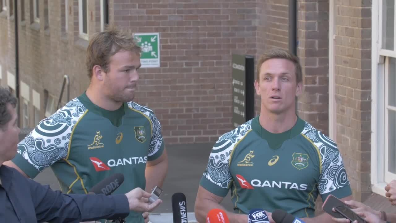 Wallabies Indigenous Jersey - players interview