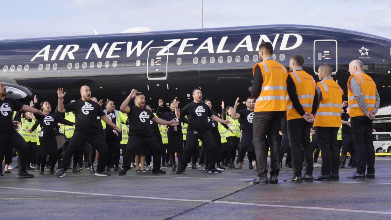 Watch: Air New Zealand's spine-tingling haka for All Blacks as they head to World Cup