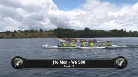 Video for 2019 Waka Ama Sprints - J16 Men - W6 500 Semi 2/2