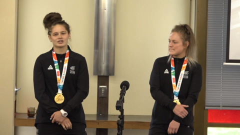 Video for Manukura welcomes home Olympic Champions
