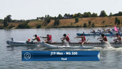 Video for 2020 Waka Ama Sprints - J19 Men - W6 500 Final