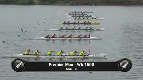 Video for 2019 Waka Ama Sprints - Premier Men - W6 1500 Semi 2/2
