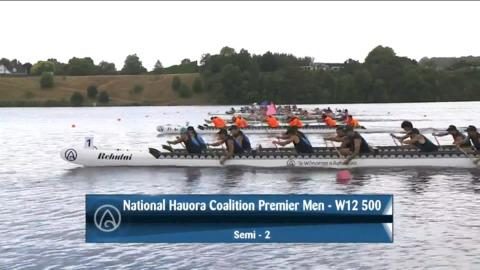 Video for 2021 Waka Ama Championships - Nat. Hauora Coalition Premier Men - W12 500 Semi 2/2