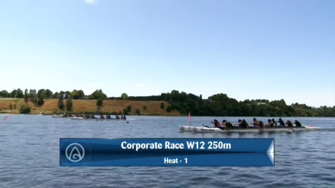 Video for 2020 Waka Ama Sprints - Corporate Race - W12 250 Semi 1/2
