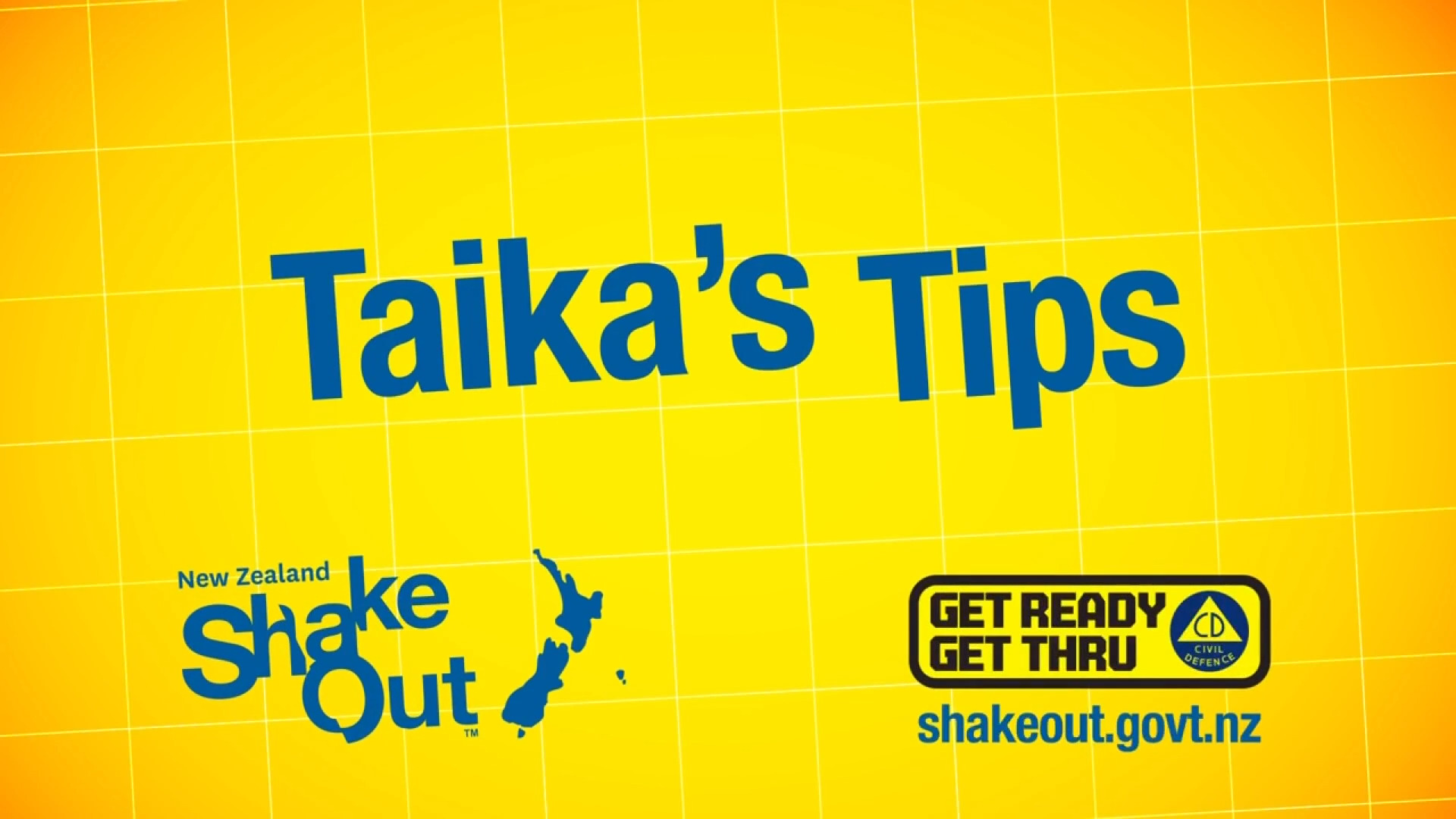 Video for Take action to ShakeOut, Aotearoa