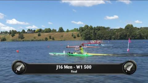 Video for 2019 Waka Ama Sprints - J16 Men - W1 500 Final