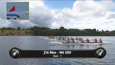 Video for 2019 Waka Ama Sprints - J16 Men - W6 500 Semi 1/2