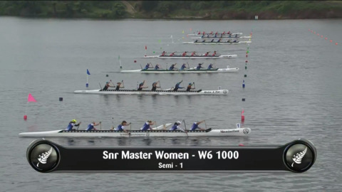 Video for 2019 Waka Ama Sprints - Snr Master Women - W6 1000 Semi 1/2