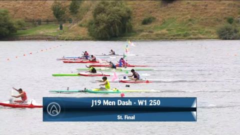 Video for 2021 Waka Ama Championships - J19 Men Dash - W1 250 St. Final